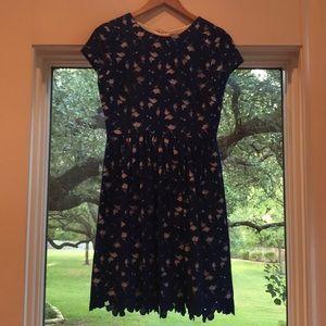 Vince Camuto Royal Blue Lace Dress- Size 4 EEUC
